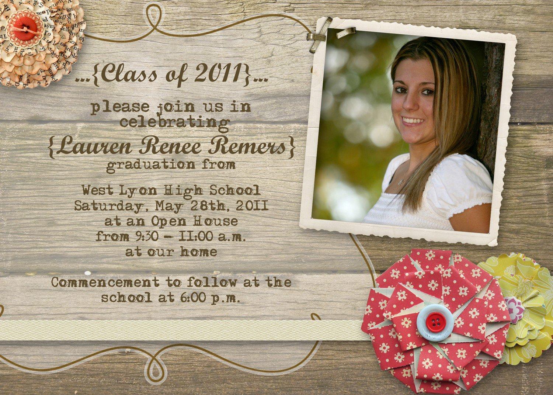open house graduation invitations