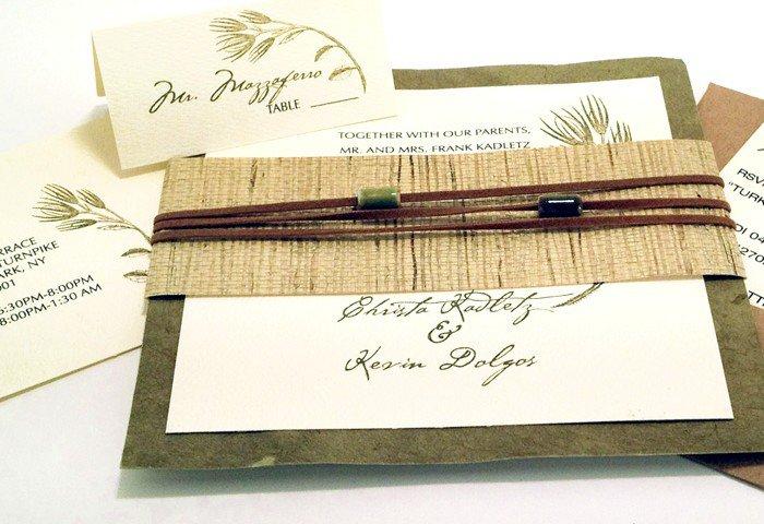 Organic Paper Wedding Invitations