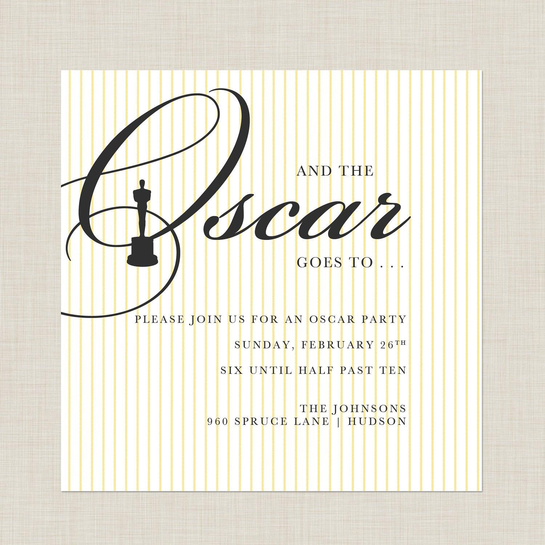 Oscar Invitations Templates