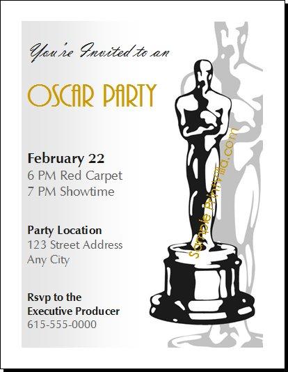 oscar invitation templates