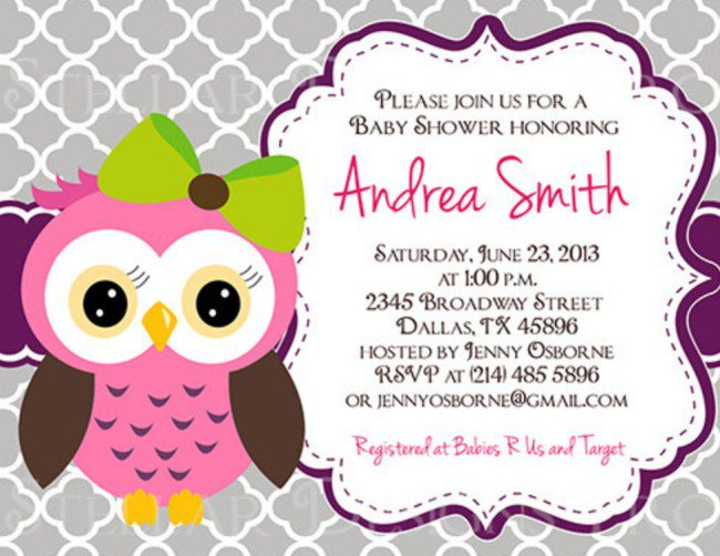 Owl Birthday Party Invitations