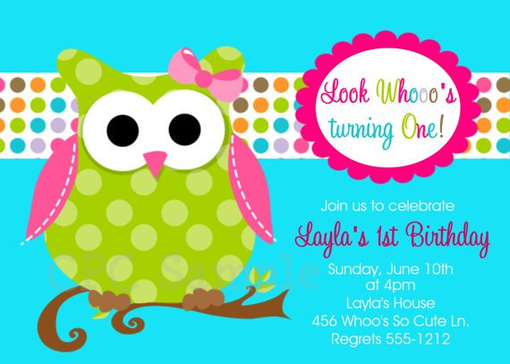 Owl Birthday Party Invitations Free