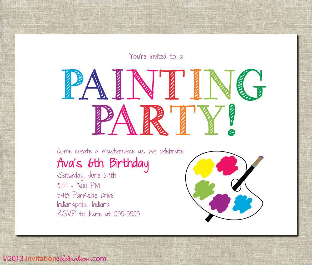 Funky Pottery Painting Party Invitations Mold - Invitation Card ...