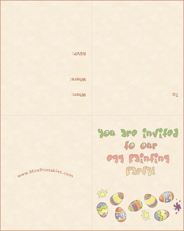 Painting Party Invitation Template Free