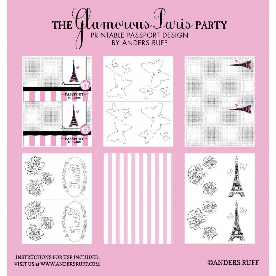 Paris Passport Party Invitations