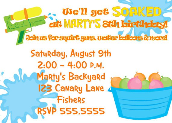 Park Birthday Party Invitations