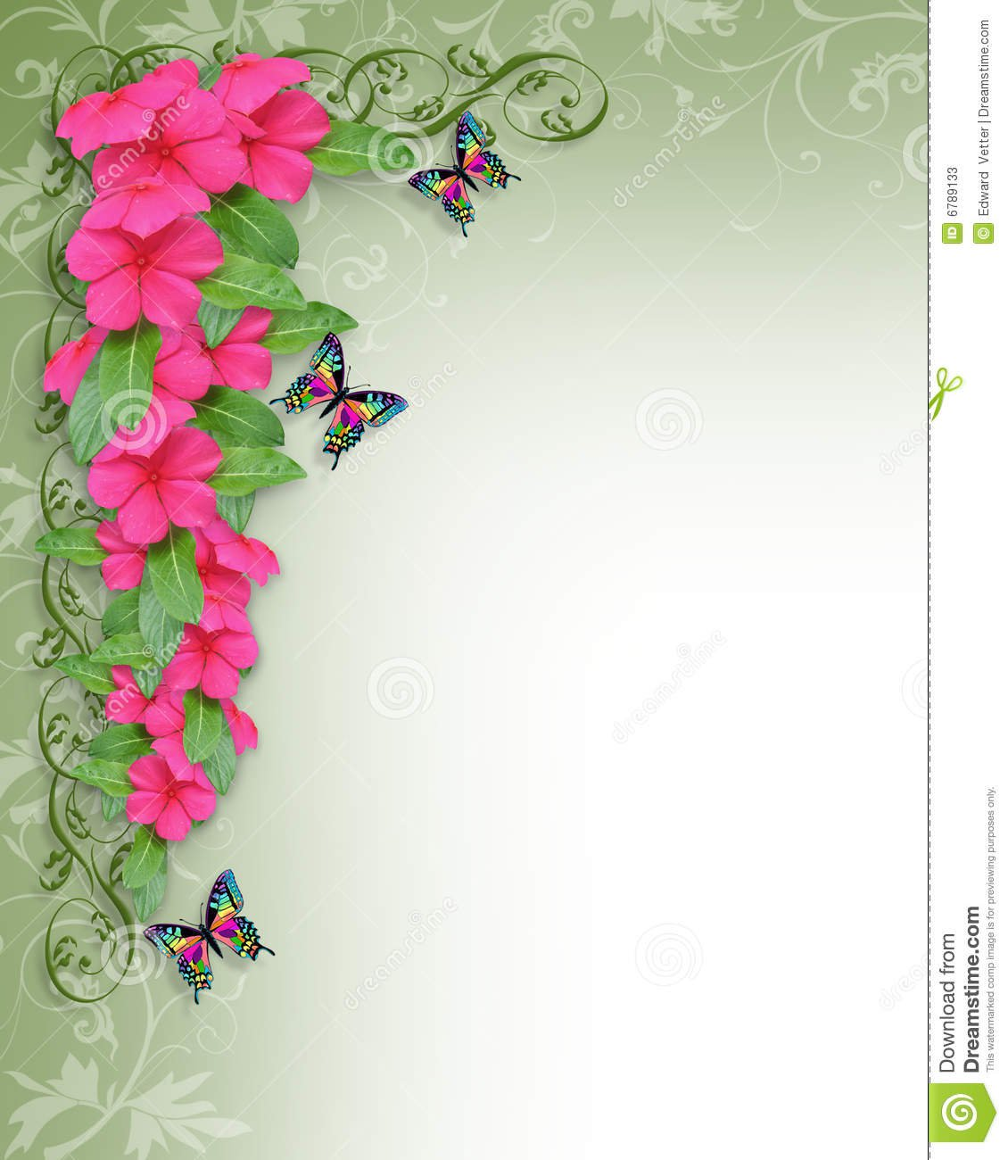 Party Invitation Border Templates