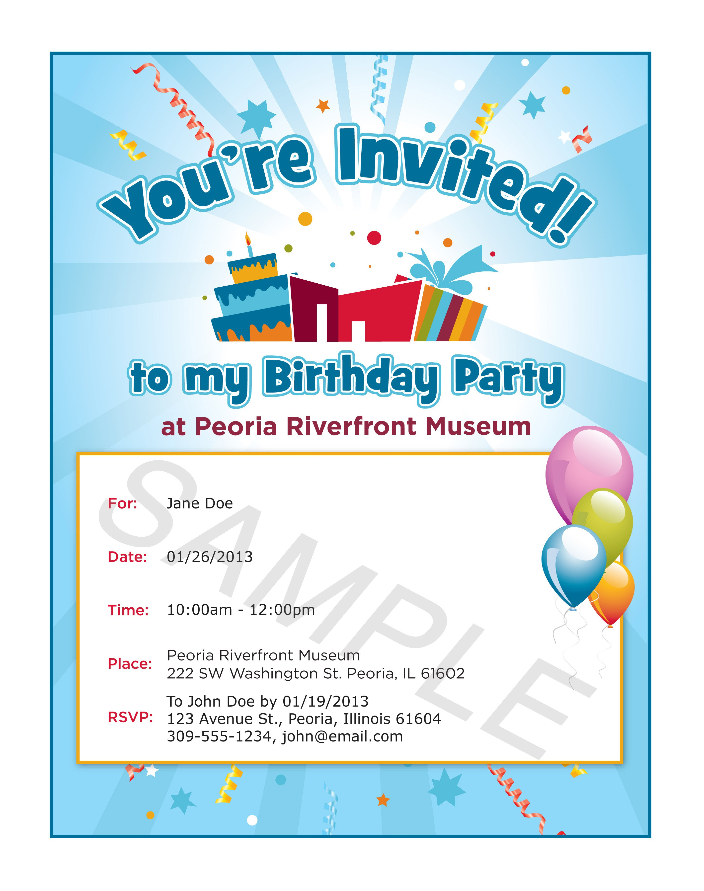 Party Invitation Examples