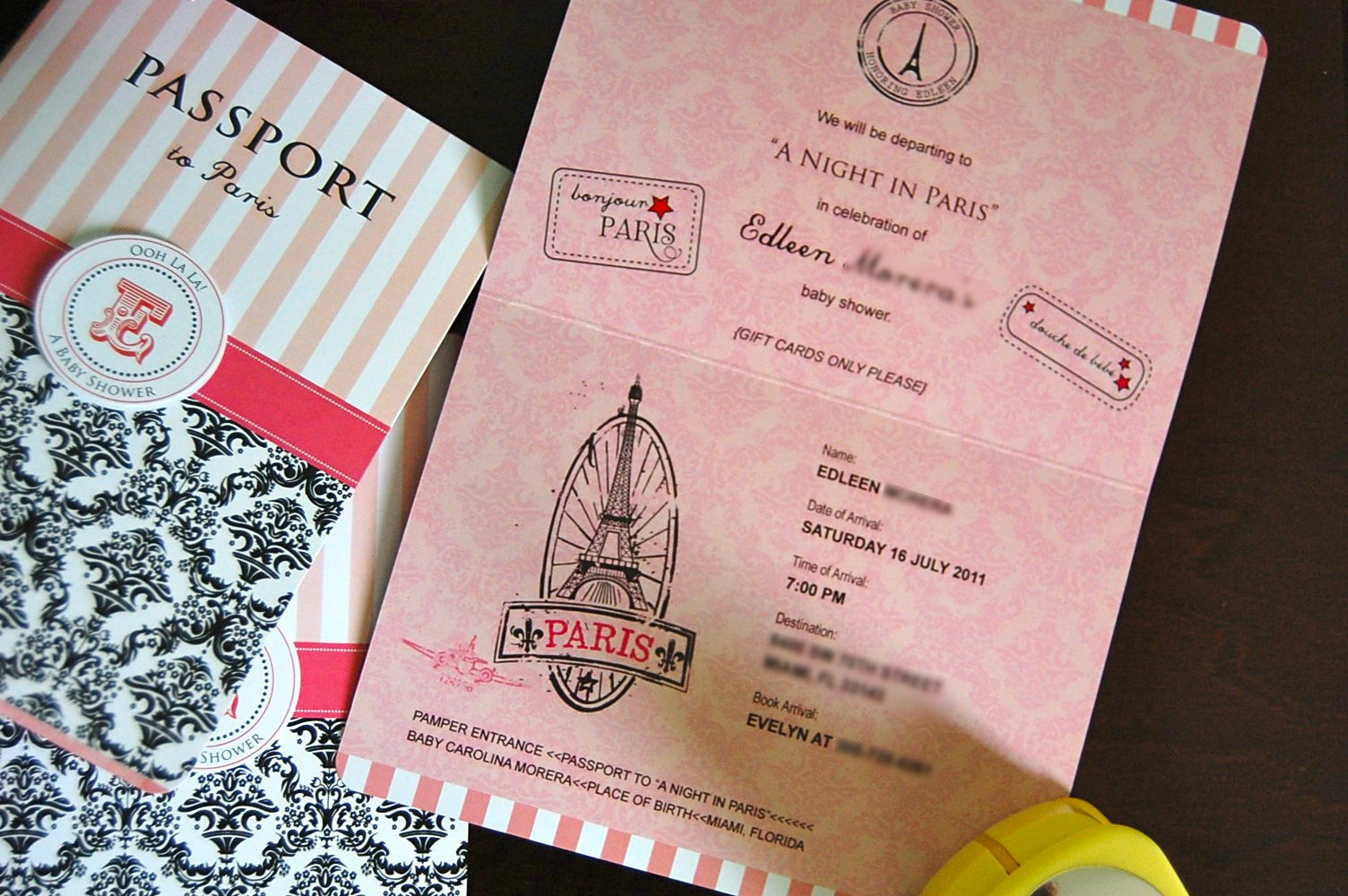 Passport Party Invitation Template