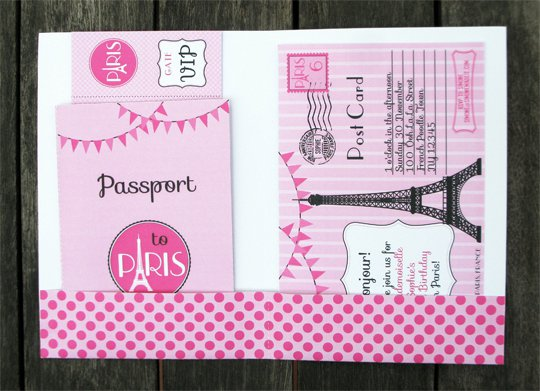 Passport Party Invitations