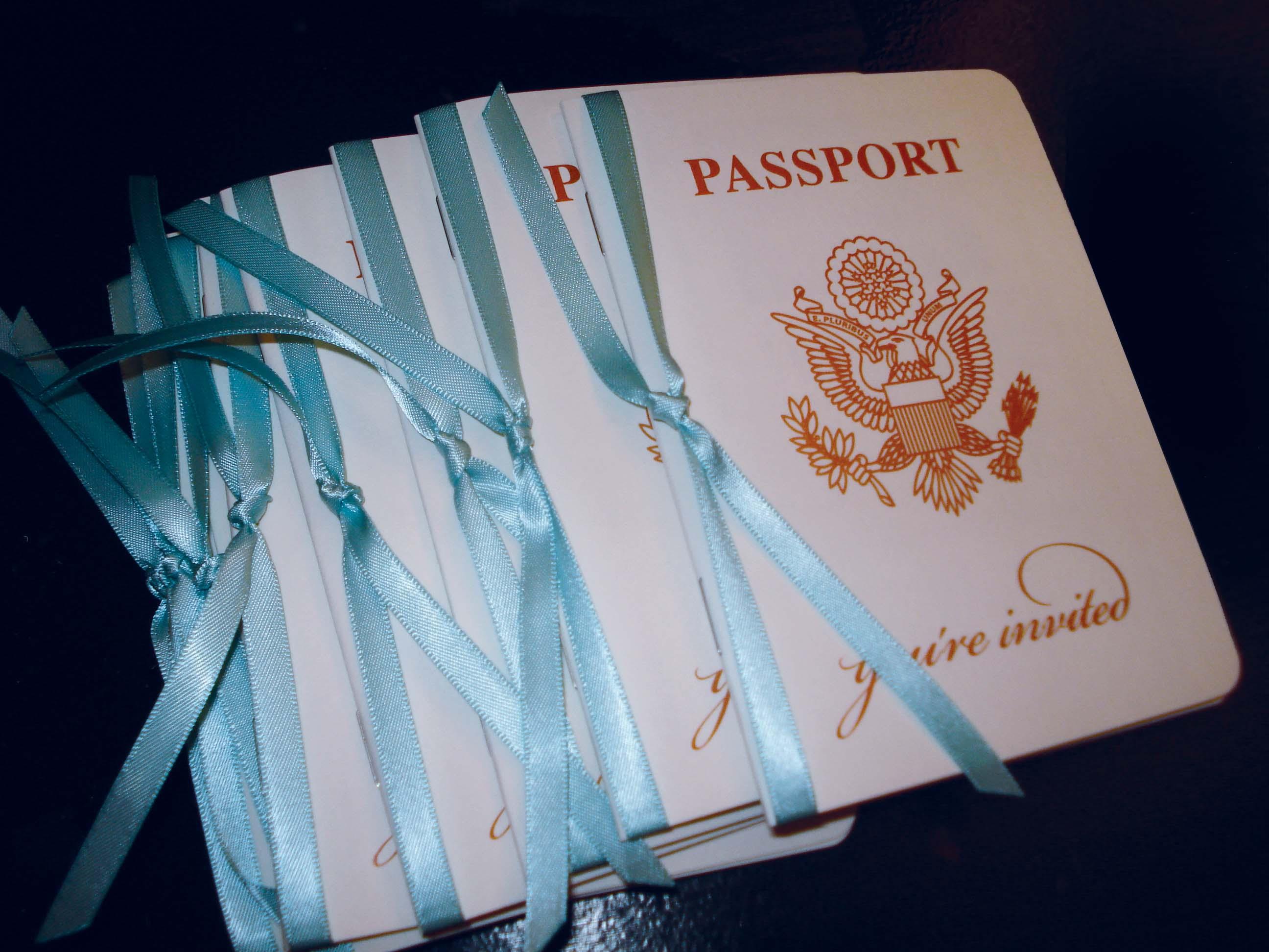 Passport Wedding Invitation Ideas