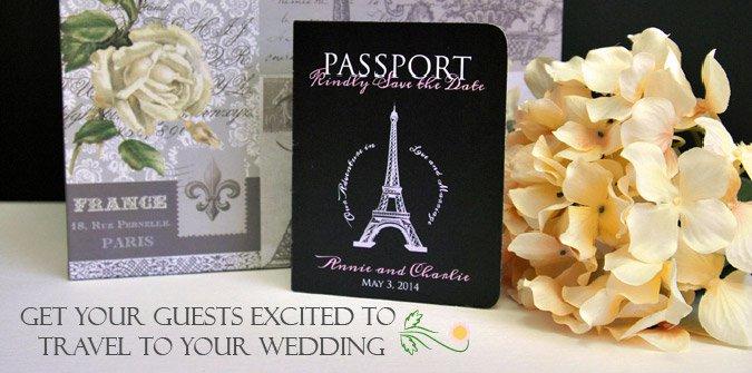Passport Wedding Invitation Kit