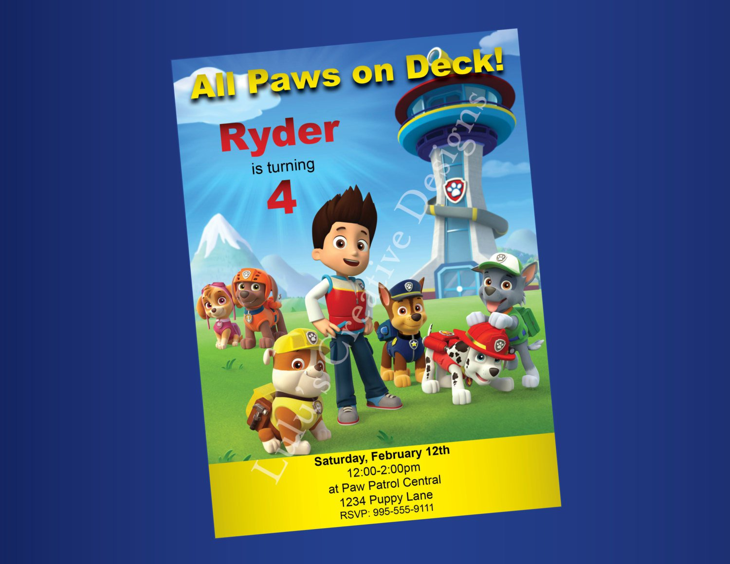 Paw Patrol Party Invitations Template
