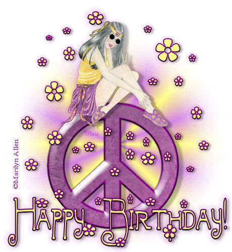 Peace Sign Birthday Wishes