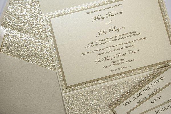 Pebble Paper Wedding Invitation