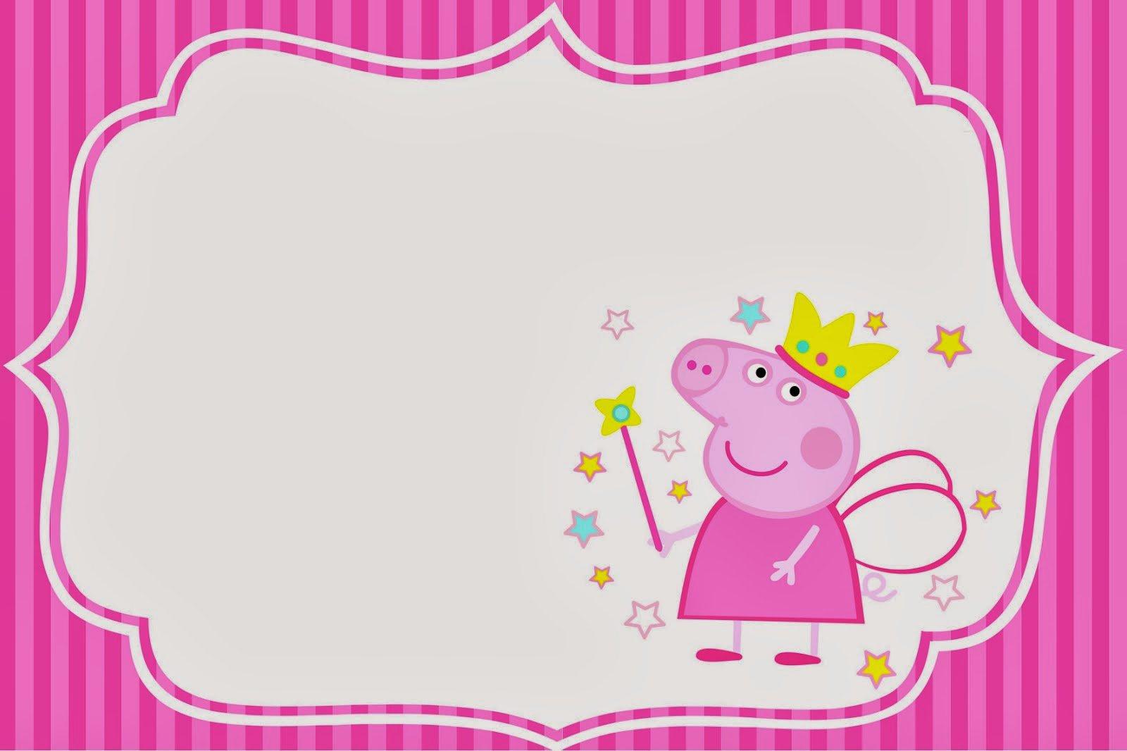 Peppa Pig Invitation Templates
