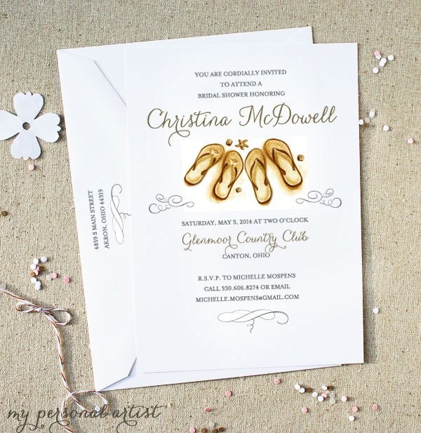 Personal Bridal Shower Invitations