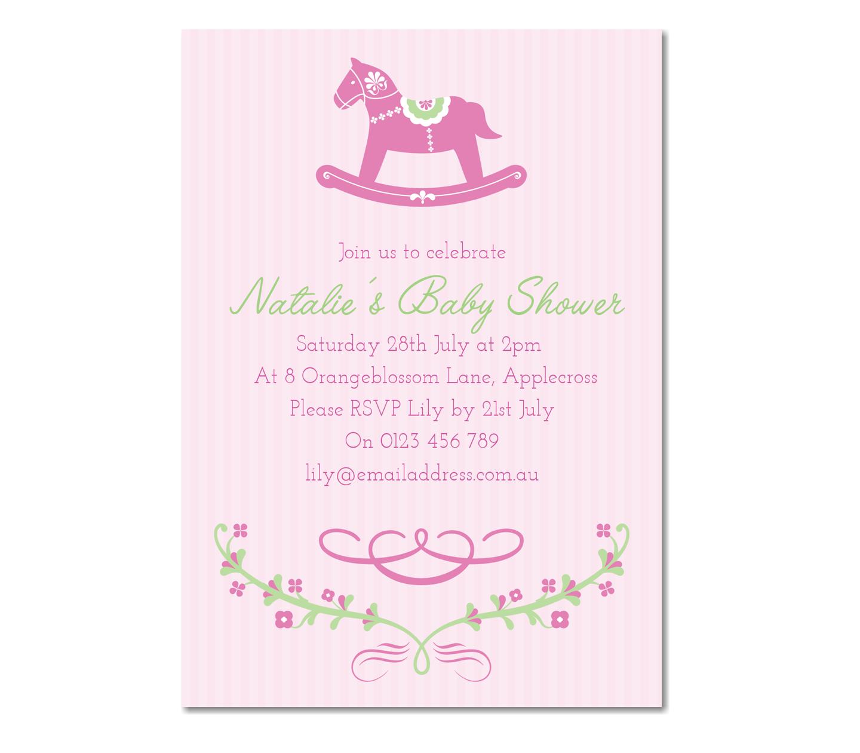 Personalised Horse Invitation