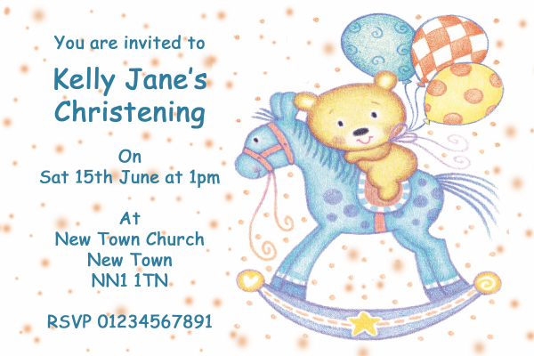 Personalised Horse Party Invitations