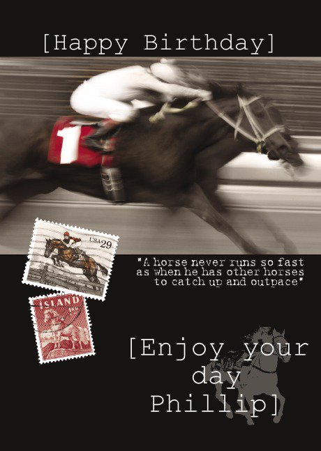 Personalised Horse Racing Invitations