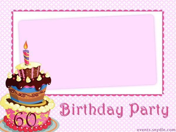 Personalized 60th Birthday Invitations