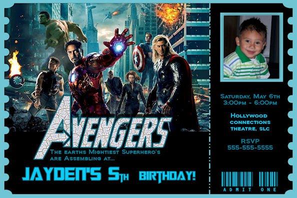 Avengers Birthday Invitations - Avengers birthday invitation wording