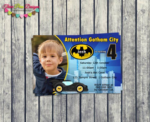Personalized Superhero Birthday Invitations