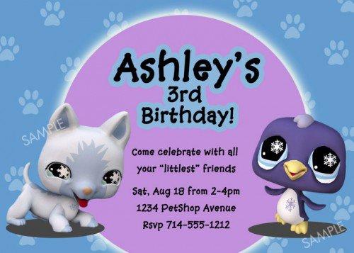 Pet Birthday Invitations