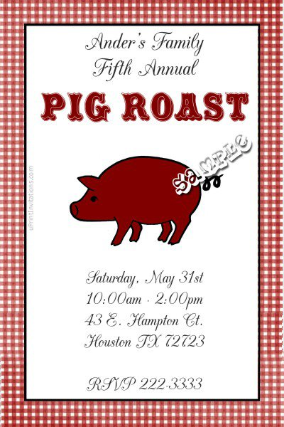 pig roast party invitation templates