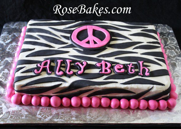 Pink And Black Zebra Stripes