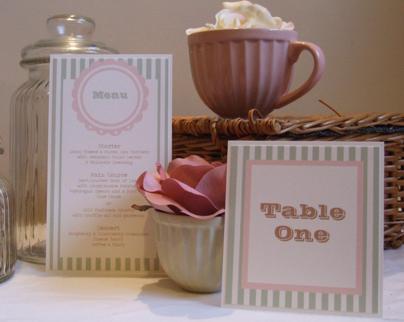 Pink Candy Stripe Wedding Invitations