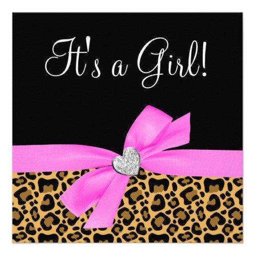 Pink Leopard Print Invitations