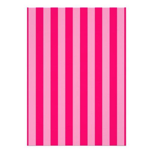 Pink Stripe Invitation