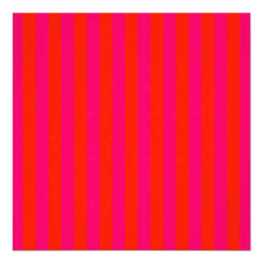Pink Stripe Invitations