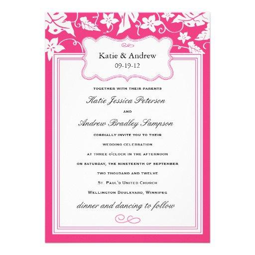 Pink Wedding Invitation Templates