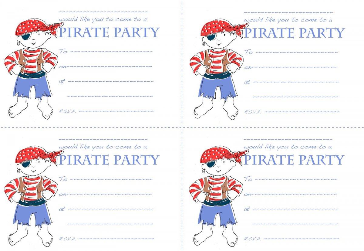 Pirate Party Invitation Templates