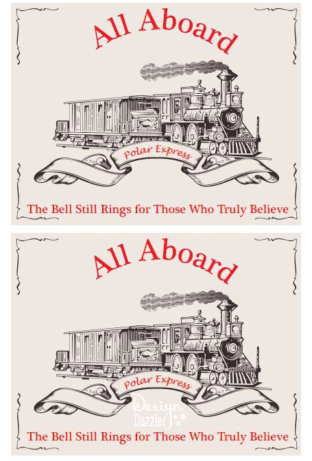 Polar Express Party Invitations Printable