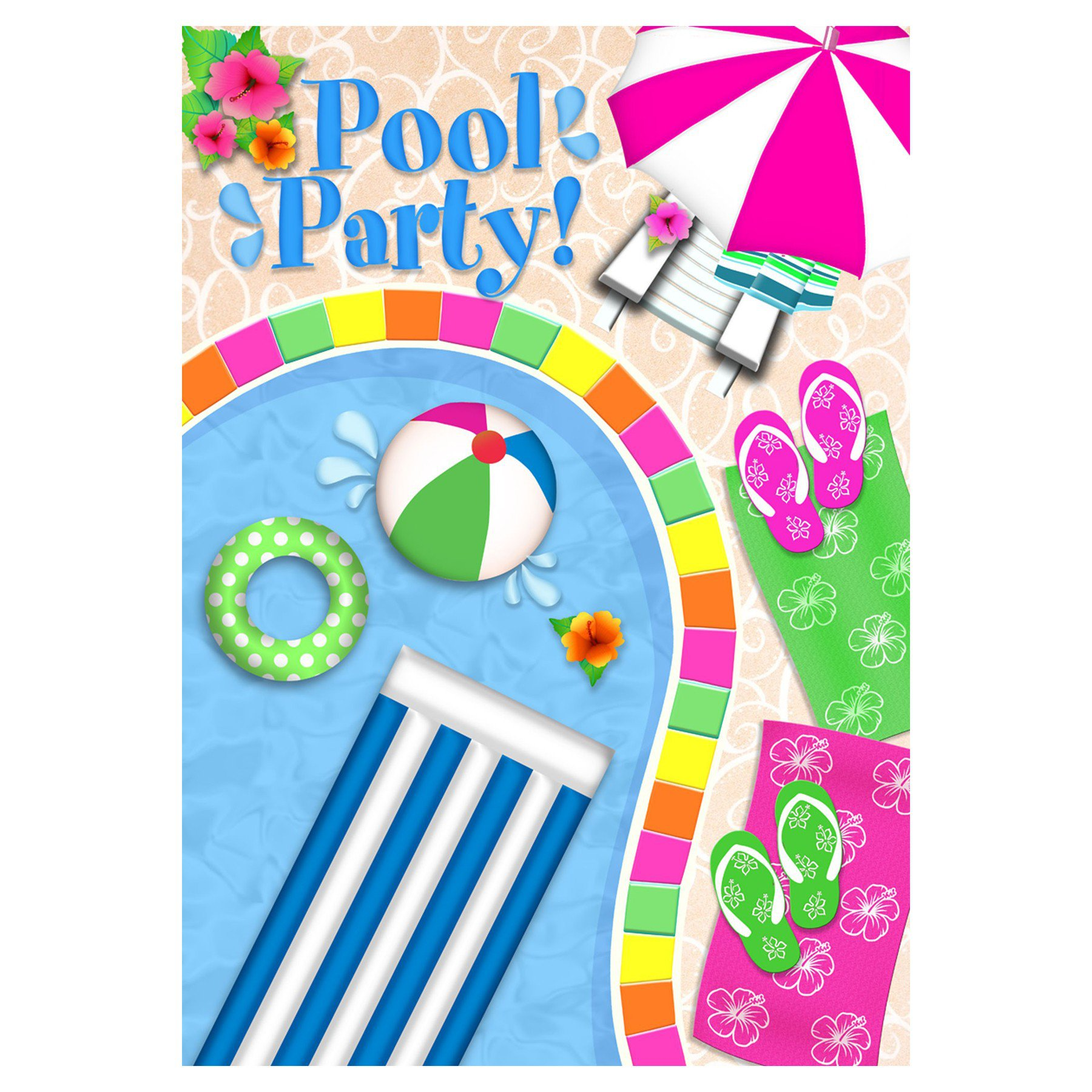 Pool Party Clip Art Pictures