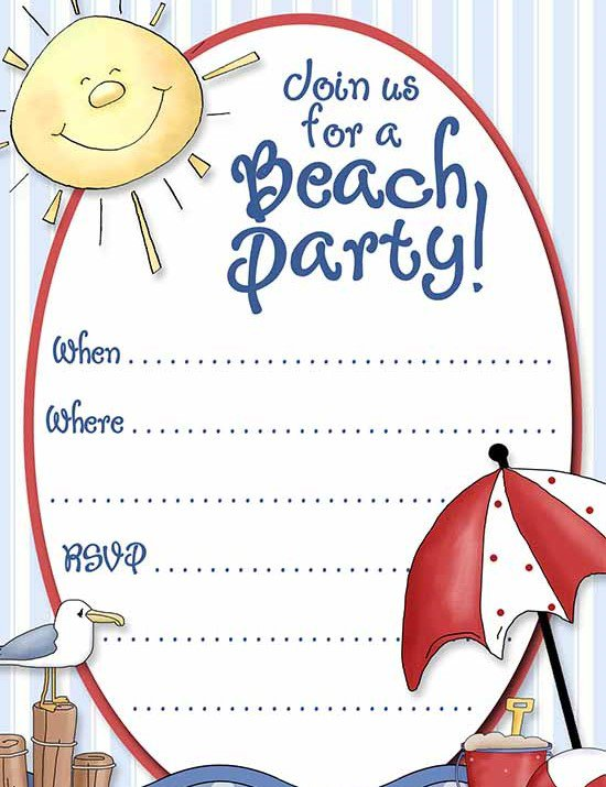 Swimming Pool Party Invitation Templates – Pool Party Invite Template