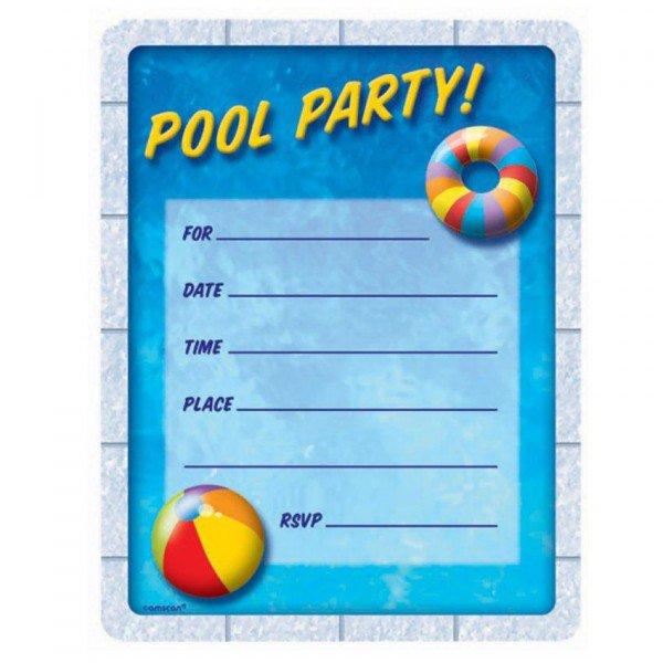 Pool Party Invitations Halloween