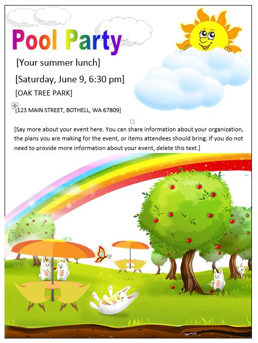 Party Printable Invitation Templates – Pool Party Invitation Templates Free Printable