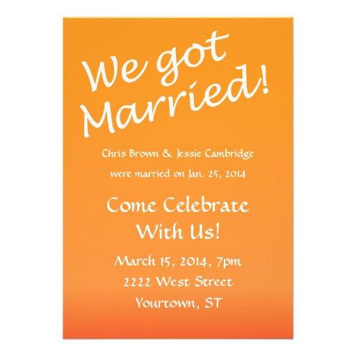 Post Wedding Party Invitation Wording