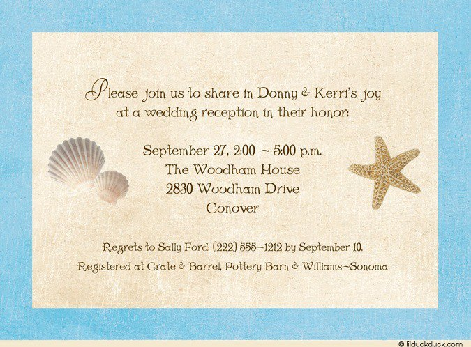 post wedding reception invitation wording - Post Wedding Reception Invitation Wording