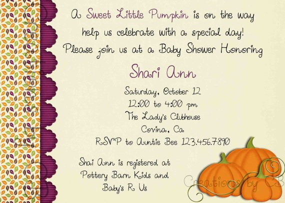 Potluck Invitation Wording For Baby Shower