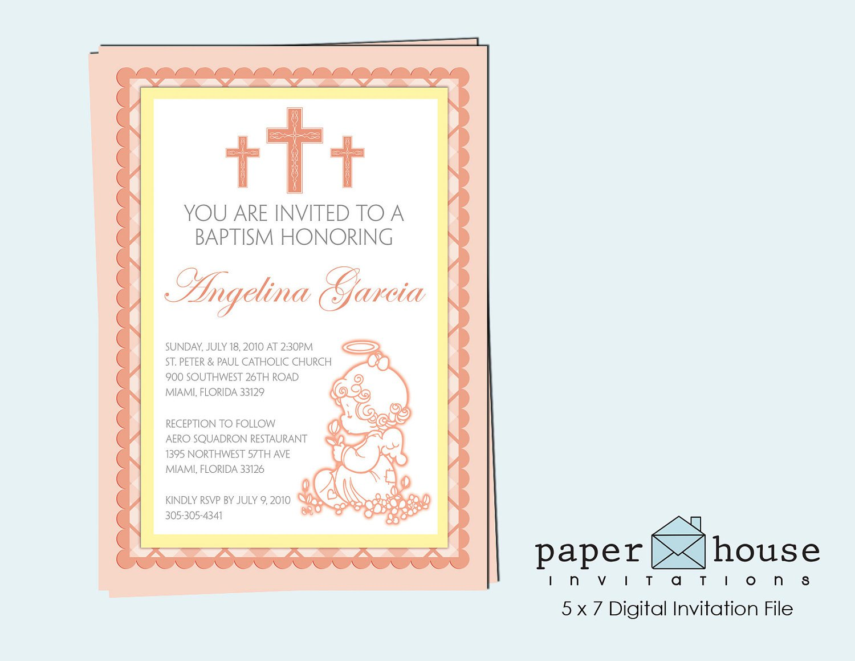 Precious Moments Baptism Invitations