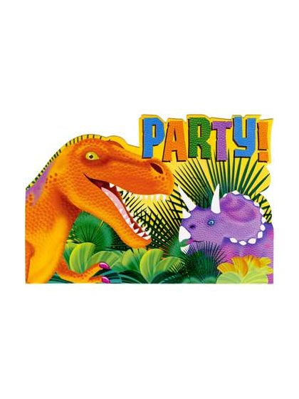 Prehistoric Dinosaur Birthday Invitations Blank