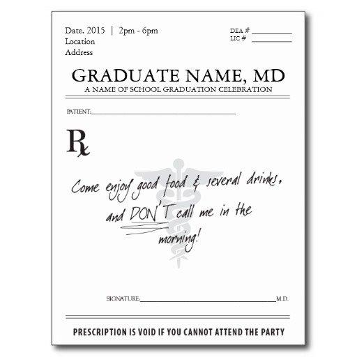 Prescription Pad Invitation
