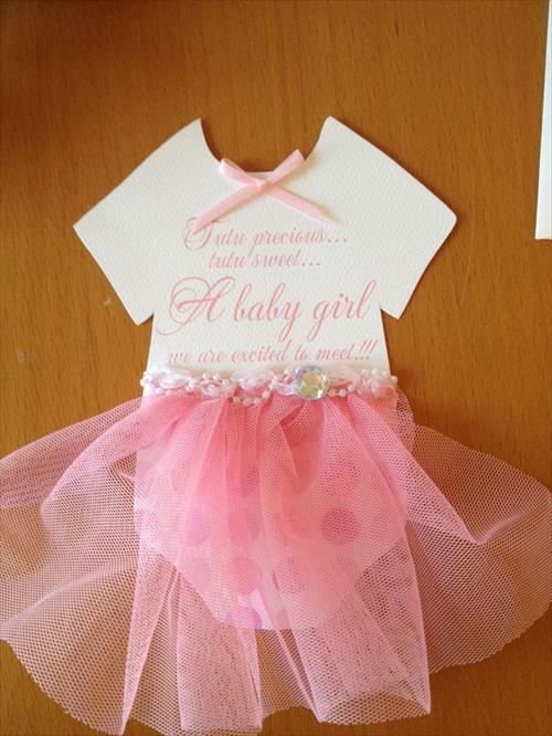 Pretty Girl Baby Shower Invitations