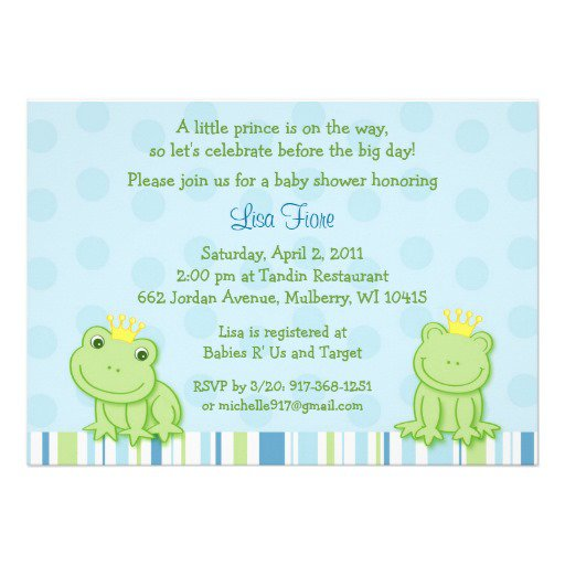 Prince Invitations Baby Shower