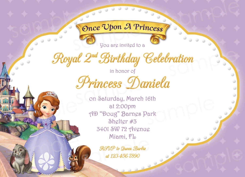 Princess Birthday Invitations Blank Templates